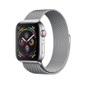 Apple Watch Series 4 GPS + LTE 40mm, viền thép, dây Milanese Loop
