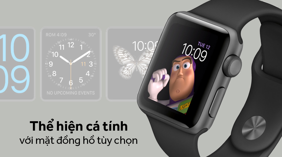 Apple Watch Series 3 GPS + LTE 42mm, viền nhôm, dây cao su - 99%