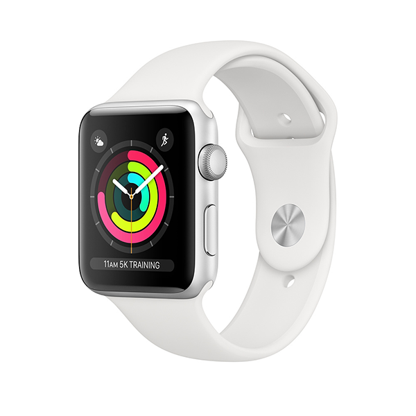 Apple Watch Series 3 GPS + LTE 38mm, viền nhôm, dây cao su New 100%