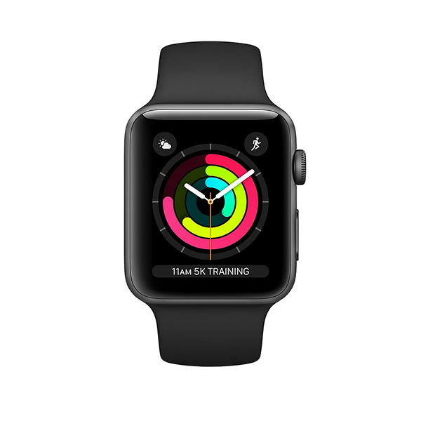 Apple Watch Series 3 GPS 42mm, viền nhôm, dây cao su