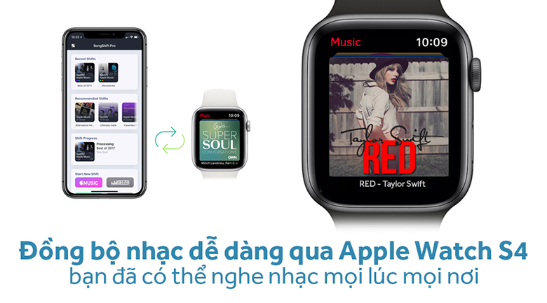 Apple Watch Series 4 GPS 44mm, viền nhôm, dây vải - New